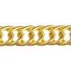Chain Oval Double Curb 8X5mm Gold